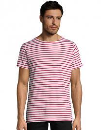 Men`s Round Neck Striped T-Shirt Miles